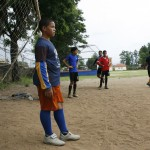 Students at a private school in Jarabacoa, Dominican Republic, take soccer so seriously they run drills and practice during the final World Cup match between Spain and Holland