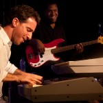 The revival of Haiti's International Jazz Festival drew foreign acts like N.Y. Pianist Aaron Goldberg, who along with his Haitian-American accompanists, impressed an audience with Haitian favorites set to Jazz instrumentation. -Jacob Kushner for JazzTimes