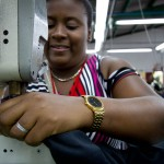 The wages that Chale and her co-workers earn for sewing T-shirts and other clothing items are three times the minimum wage in the Dominican Republic.